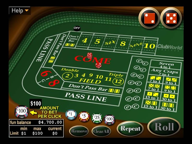RealTime Gaming offers quality and fair craps gaming